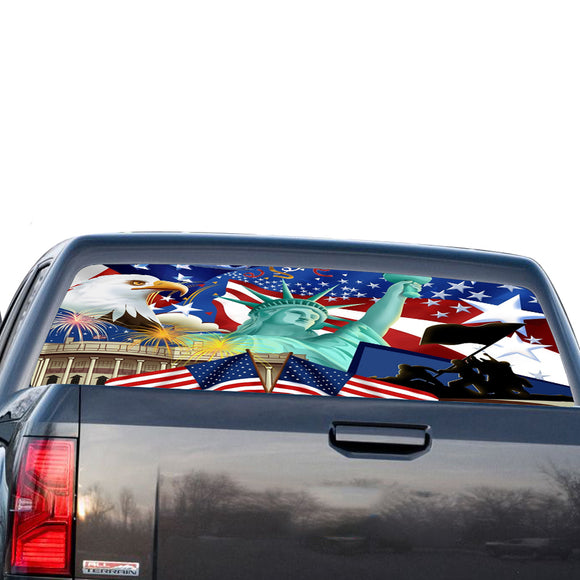 New York Perforated for GMC Sierra decal 2014 - Present