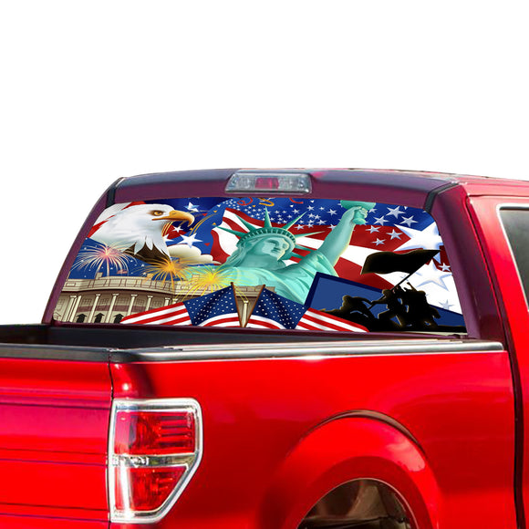 USA New York Perforated for Ford F150 Decal 2015 - Present
