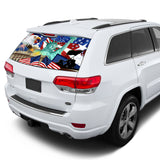 New York Perforated for Jeep Grand Cherokee decal 2011 - Present