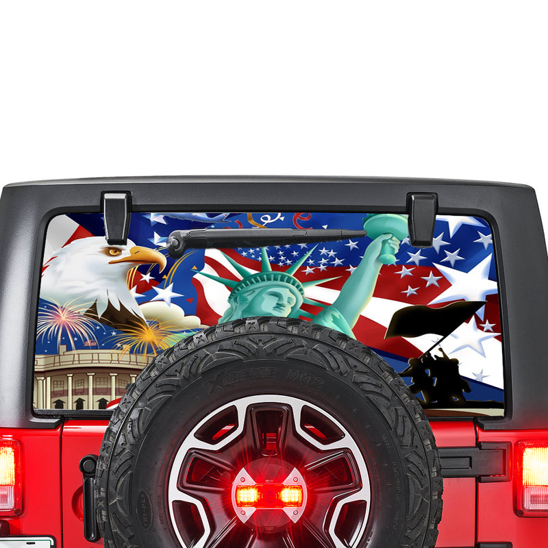 New York Perforated for Jeep Wrangler JL, JK decal 2007 - Present