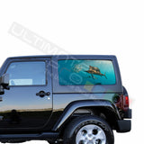 Rear Window Fishing Perforated for Jeep Wrangler JL, JK decal 2007 - Present
