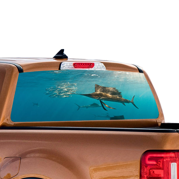 Fishing 1 Perforated for Ford Ranger decal 2010 - Present
