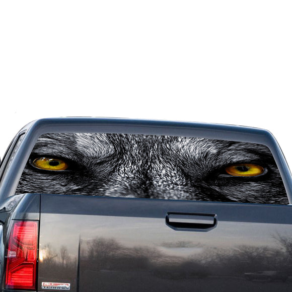 Wolf Eyes Perforated for GMC Sierra decal 2014 - Present