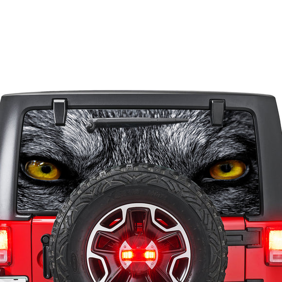 Wolves Eyes Perforated for Jeep Wrangler JL, JK decal 2007 - Present