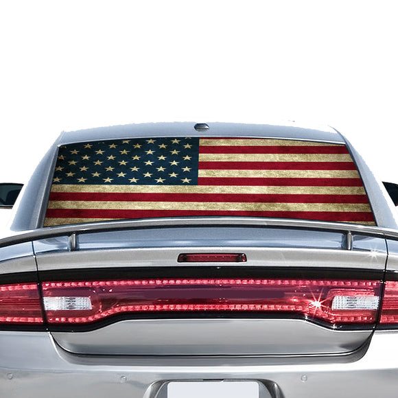 Flag USA Perforated for Dodge Charger 2011 - Present
