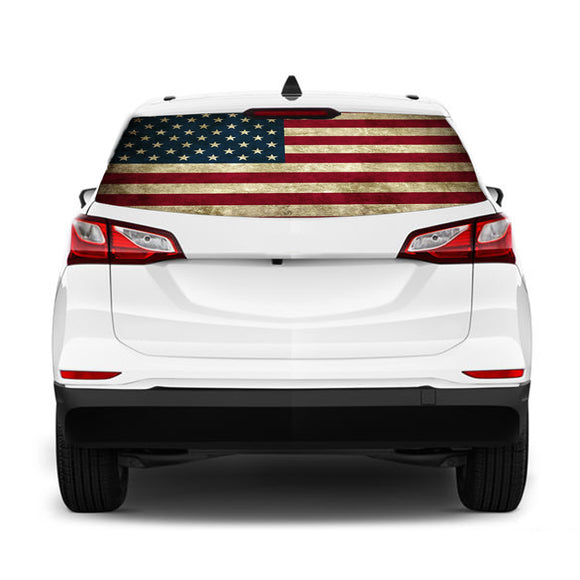 USA 1 flag Perforated for Chevrolet Equinox decal 2015 - Present