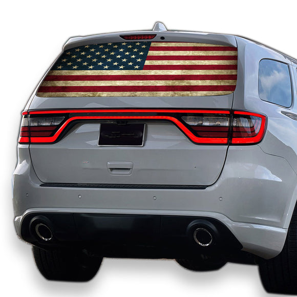 Flag USA Perforated for Dodge Durango decal 2012 - Present