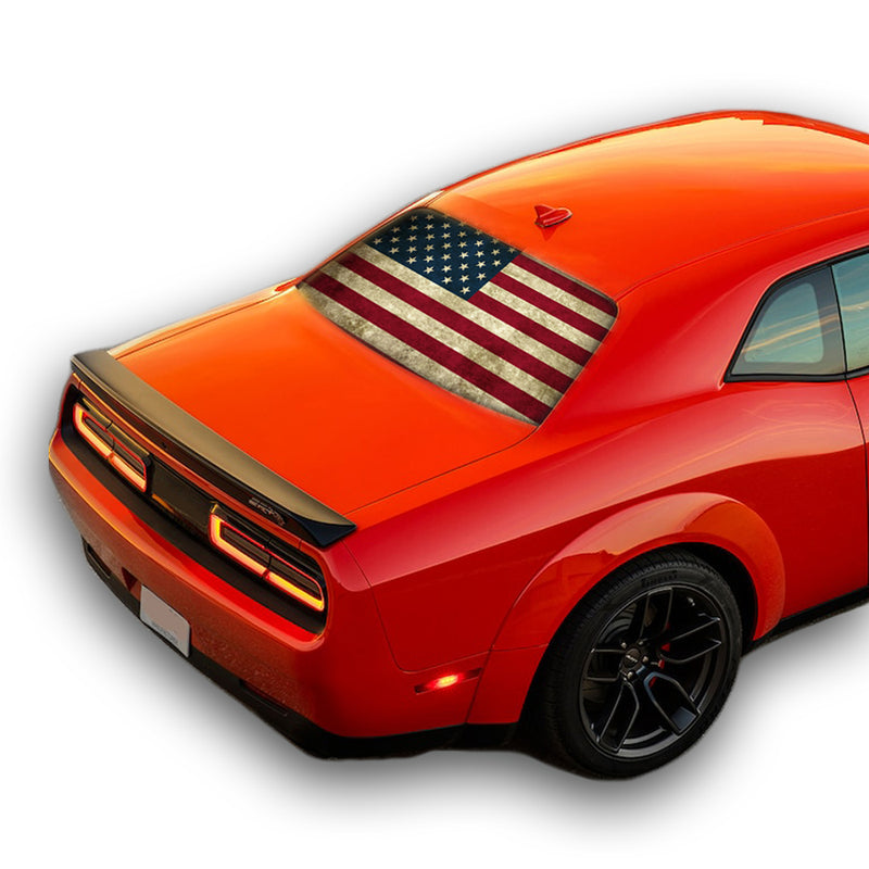 Flag USA Perforated for Dodge Challenger decal 2008 - Present