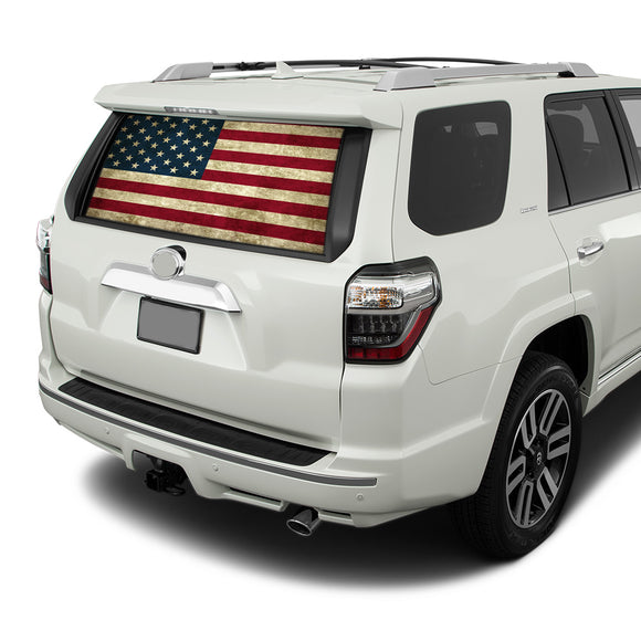 Flag USA Perforated for Toyota 4Runner decal 2009 - Present