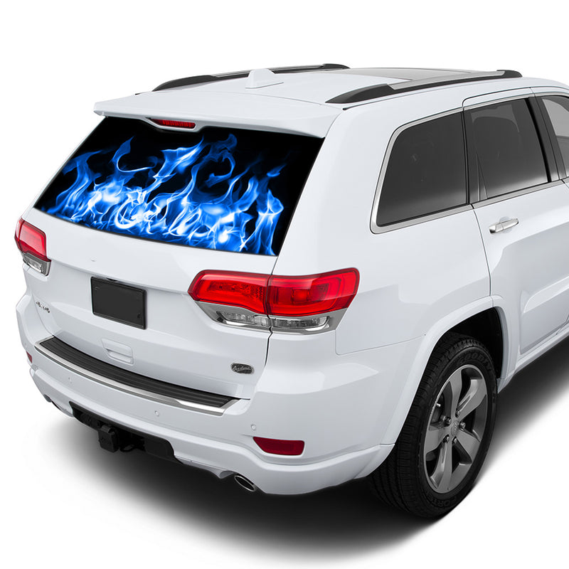 Blue Fire Perforated for Jeep Grand Cherokee decal 2011 - Present