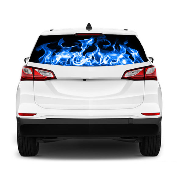 Blue Fire Perforated for Chevrolet Equinox decal 2015 - Present