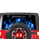 Blue Flames Perforated for Jeep Wrangler JL, JK decal 2007 - Present