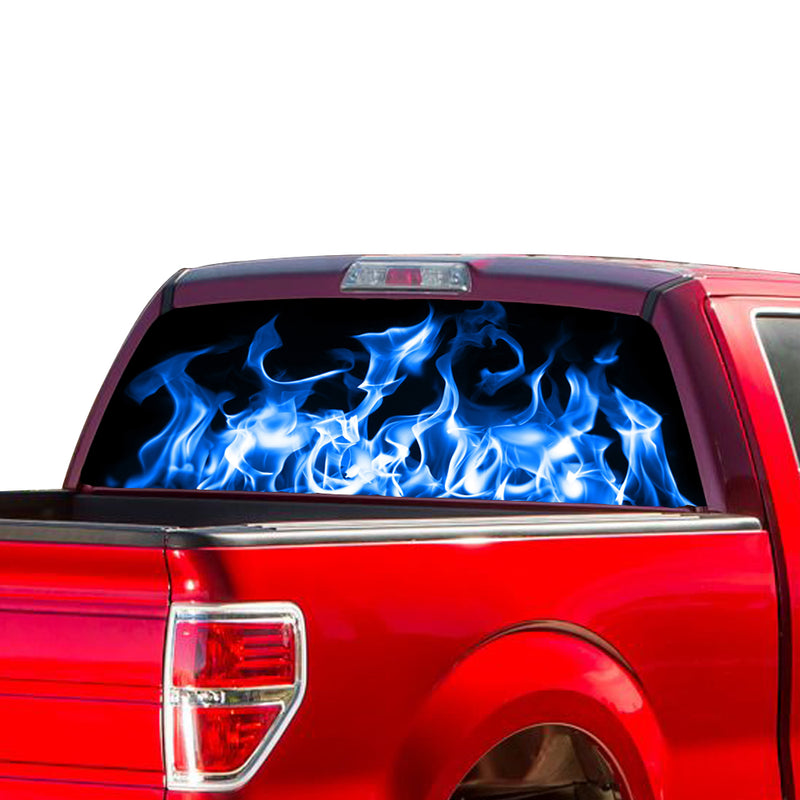 Blue Fire Perforated for Ford F150 Decal 2015 - Present