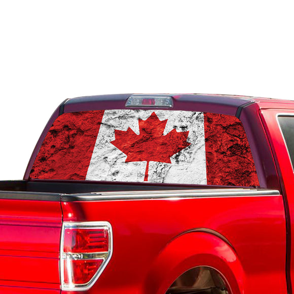 Canada Flag Perforated for Ford F150 Decal 2015 - Present