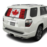 Canada Flag Perforated for Toyota 4Runner decal 2009 - Present