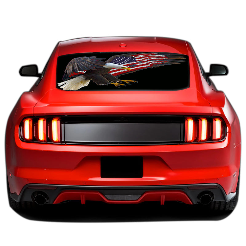 USA Eagle Perforated Sticker for Ford Mustang decal 2015 - Present