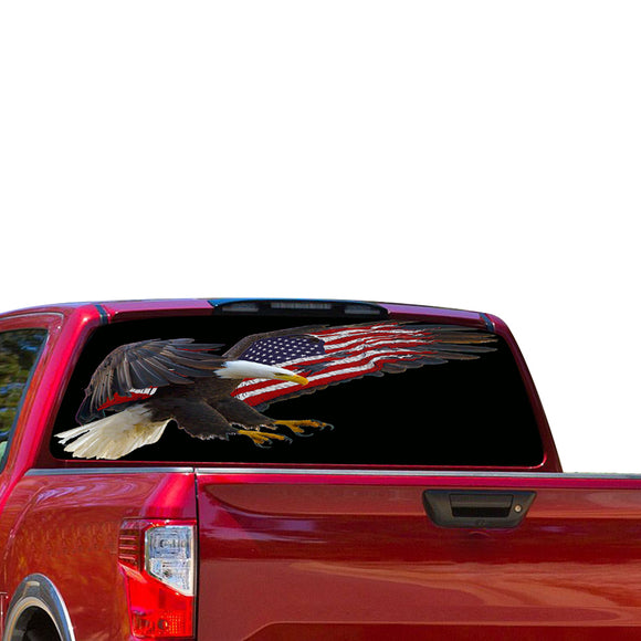 USA Eagle Perforated for Nissan Titan decal 2012 - Present