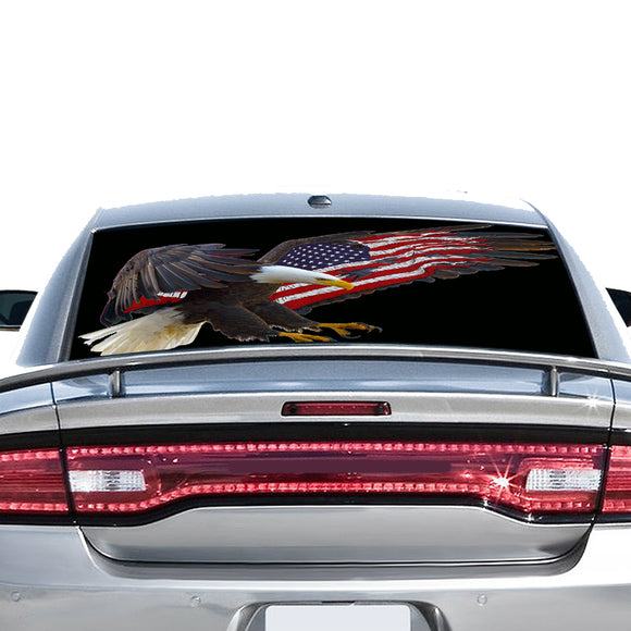 USA Flag Eagle Perforated for Dodge Charger 2011 - Present