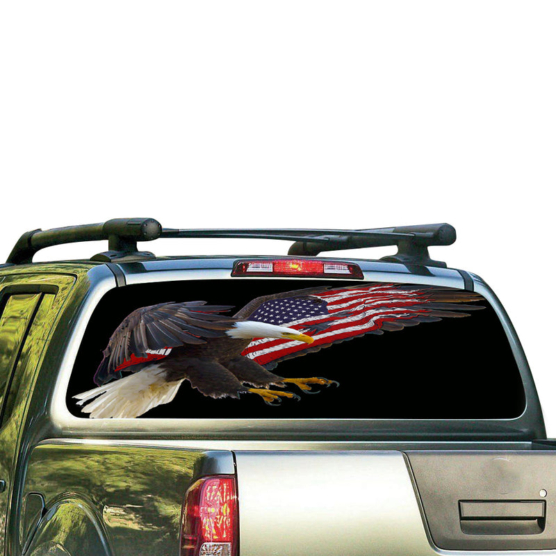 USA Eagle 2 Perforated for Nissan Frontier decal 2004 - Present