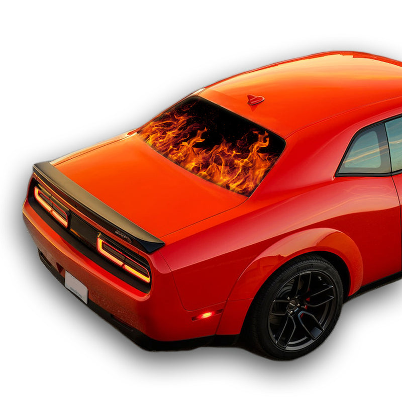 Fire Perforated for Dodge Challenger decal 2008 - Present