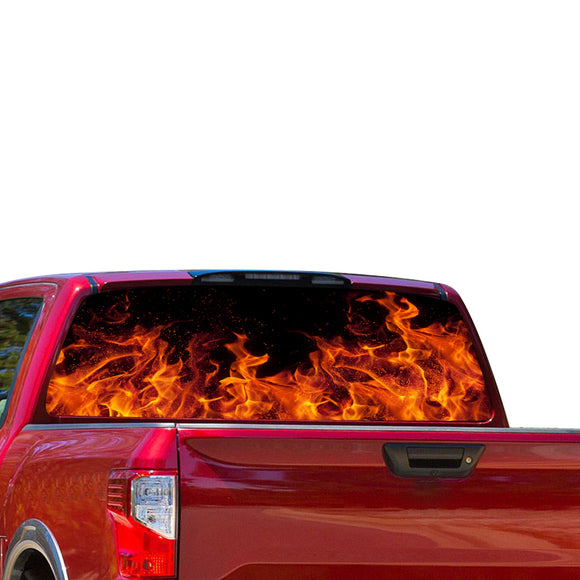 Flames Perforated for Nissan Titan decal 2012 - Present