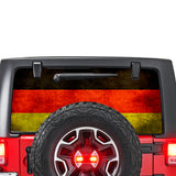 Germany Flag Perforated for Jeep Wrangler JL, JK decal 2007 - Present