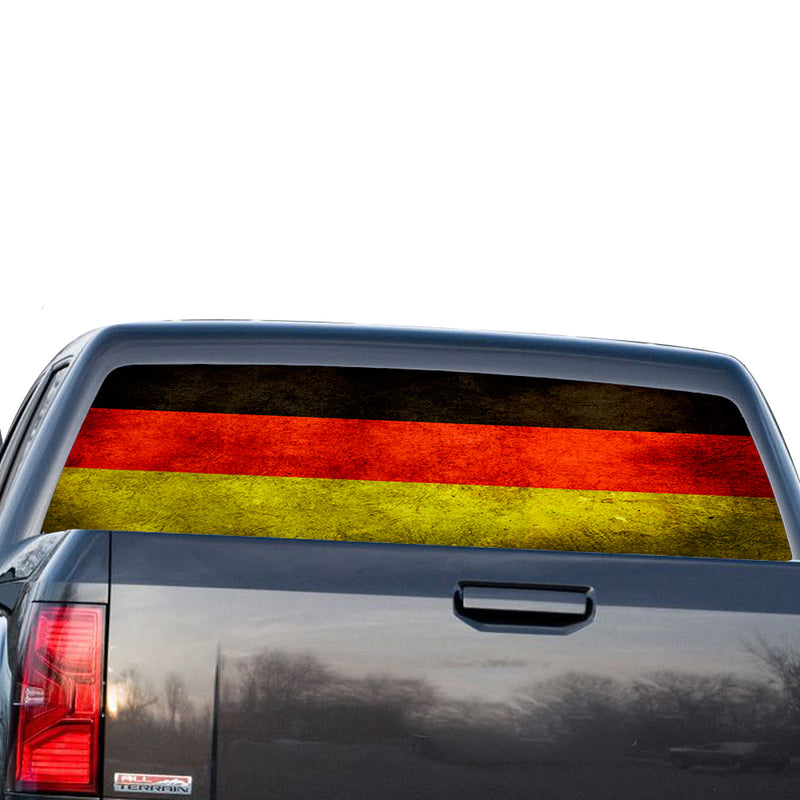 Germany Flag Perforated for GMC Sierra decal 2014 - Present