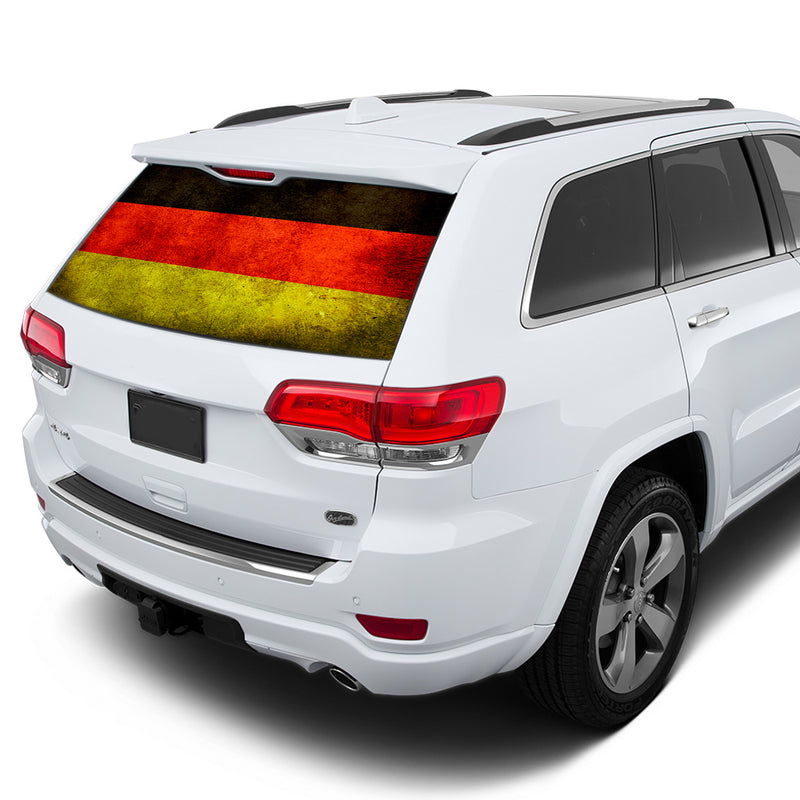 Germany Flag Perforated for Jeep Grand Cherokee decal 2011 - Present