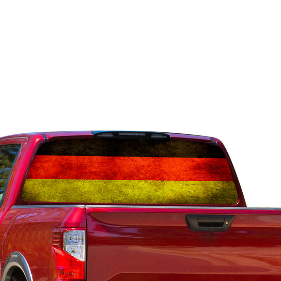Germany Flag Perforated for Nissan Titan decal 2012 - Present