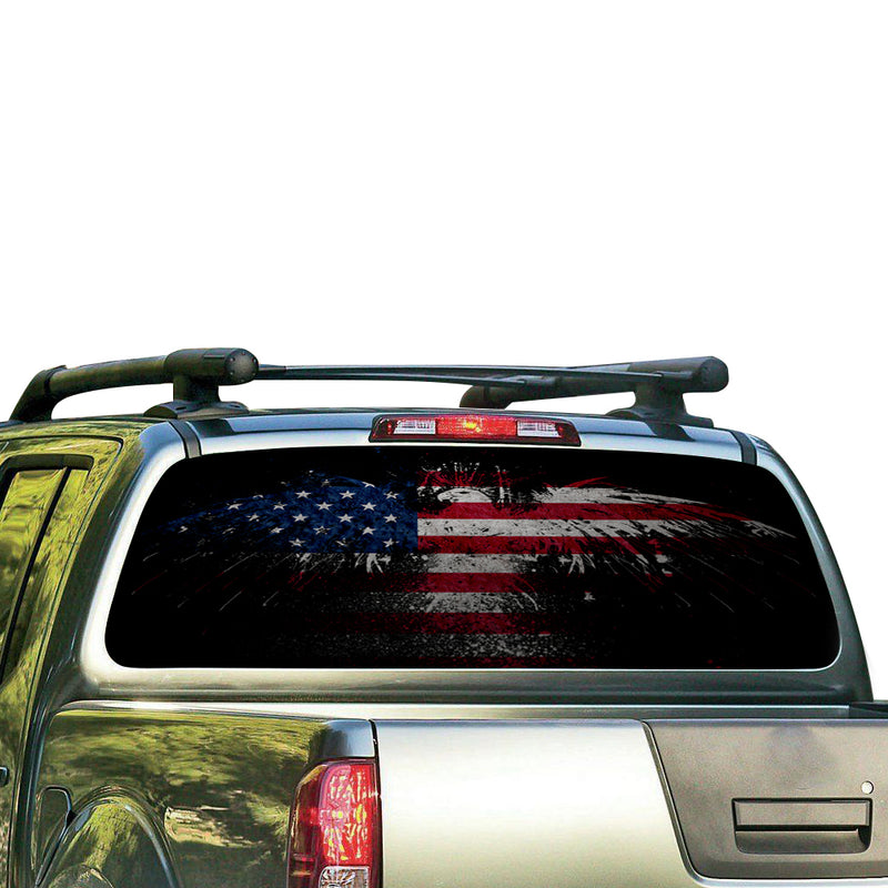USA Eagle 3 Perforated for Nissan Frontier decal 2004 - Present