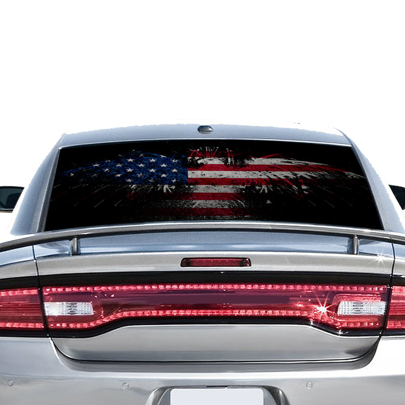 Eagle USA Flag Perforated for Dodge Charger 2011 - Present