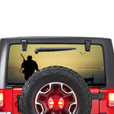 Hunting 1 Perforated for Jeep Wrangler JL, JK decal 2007 - Present