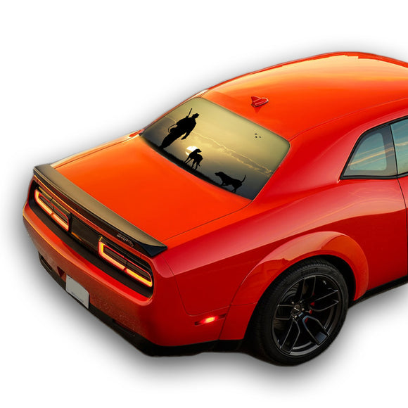 Hunting 3 Perforated for Dodge Challenger decal 2008 - Present