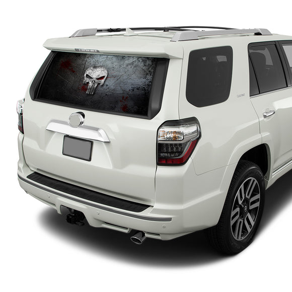 Punisher Perforated for Toyota 4Runner decal 2009 - Present