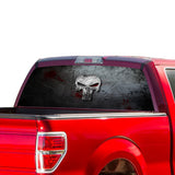 Punisher Skull Perforated for Ford F150 Decal 2015 - Present