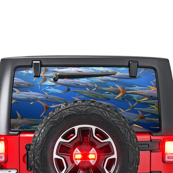 Fishing Perforated for Jeep Wrangler JL, JK decal 2007 - Present
