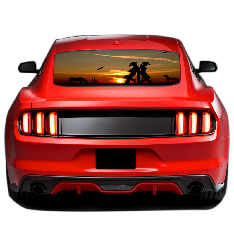 West Girls Perforated Sticker for Ford Mustang decal 2015 - Present
