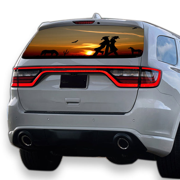 Wild West Perforated for Dodge Durango decal 2012 - Present
