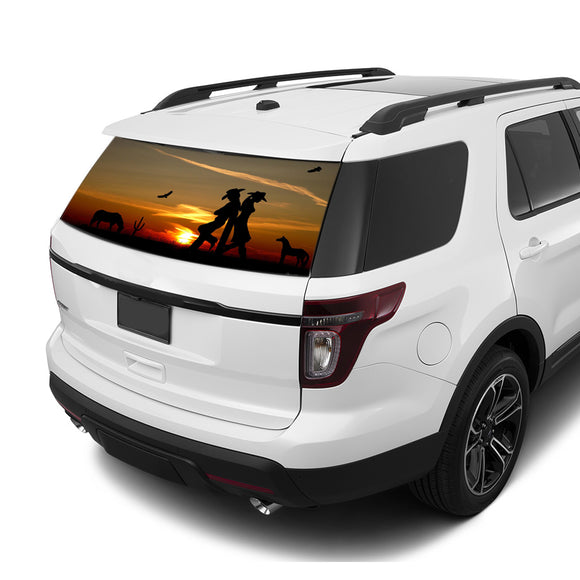 Wild West Rear Window Perforated For Ford Explorer Decal 2011 - Present