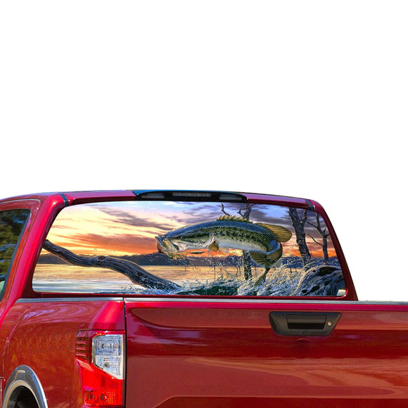 Fishing Perforated for Nissan Titan decal 2012 - Present