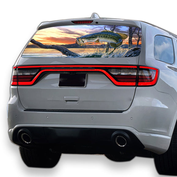 Fishing Perforated for Dodge Durango decal 2012 - Present
