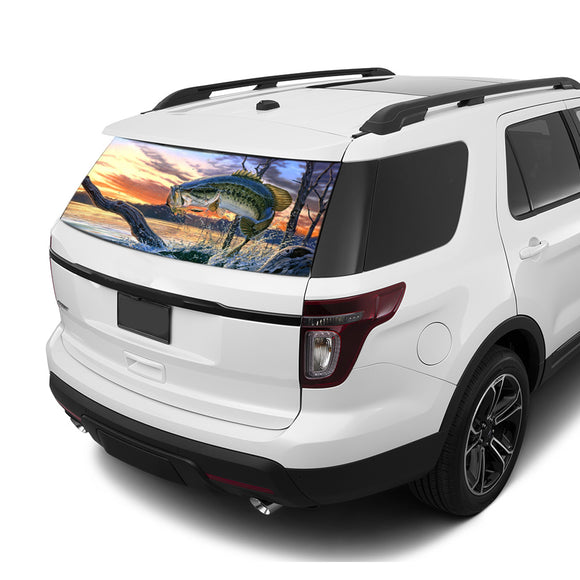 Fishing Rear Window Perforated For Ford Explorer Decal 2011 - Present
