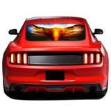 Eagle Eyes Perforated Sticker for Ford Mustang decal 2015 - Present