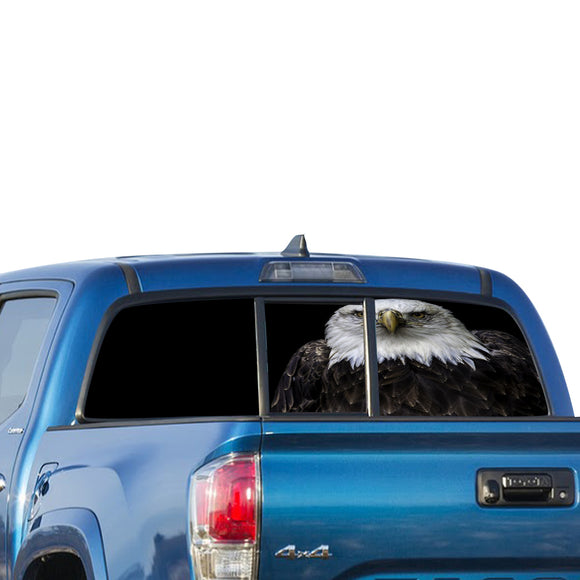 Black Eagle Perforated for Toyota Tacoma decal 2009 - Present