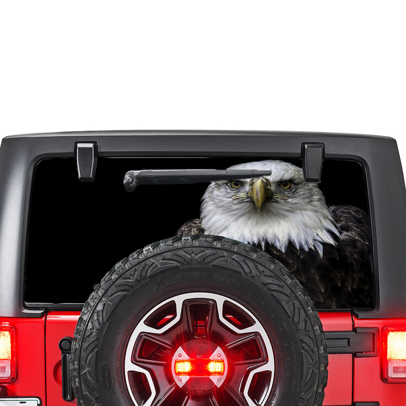 Black Eagle Perforated for Jeep Wrangler JL, JK decal 2007 - Present