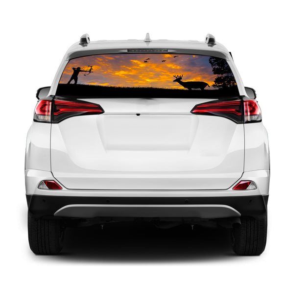 Arrow Hunting Rear Window Perforated for Toyota RAV4 decal 2013 - Present