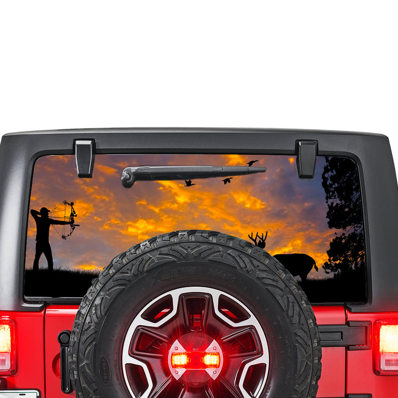 Arrow Hunting Perforated for Jeep Wrangler JL, JK decal 2007 - Present