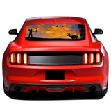 Arrow Hunting Perforated Sticker for Ford Mustang decal 2015 - Present