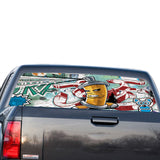Graffiti Perforated for GMC Sierra decal 2014 - Present