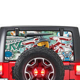 Graffiti Perforated for Jeep Wrangler JL, JK decal 2007 - Present